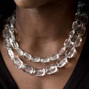 NWT Clear Stone Necklace set